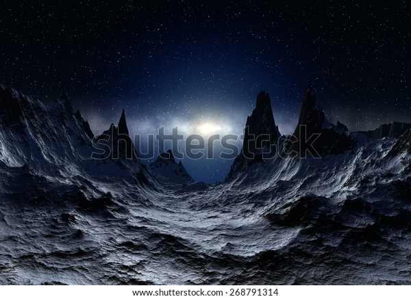 Alien Planet - 3D Rendered Landscape