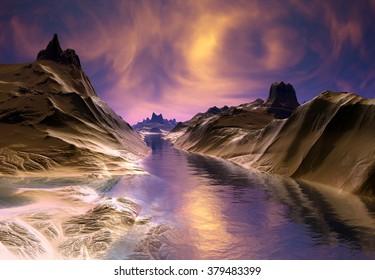 Alien Planet - Fantasy Landscape