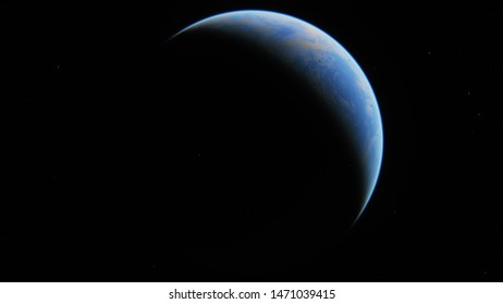 Alien planets in deep space. 3D rendering