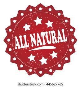 all natural grunge stamp