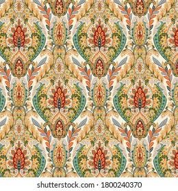 All Over Motifs Pattern Digital Print Design