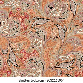 All over silky paisley pattern