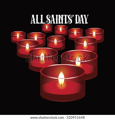 All saints day red votive candles stock illustration 320951648 all saints day red votive candles design illustration for holidays religion greeting card m4hsunfo