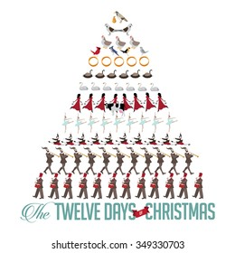 All Twelve days of Christmas tree