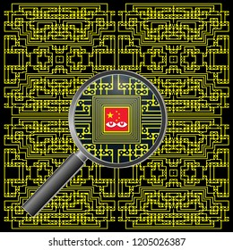 Alleged Chinese motherboard spy chip. Micro espionage chips in modified computers manufactured in China