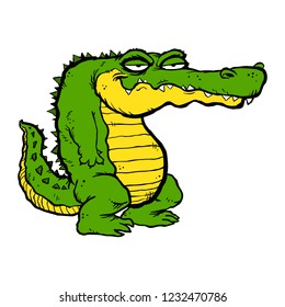 Alligator cartoon illustration