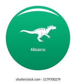 Allosaurus icon. Simple illustration of allosaurus icon for any design green