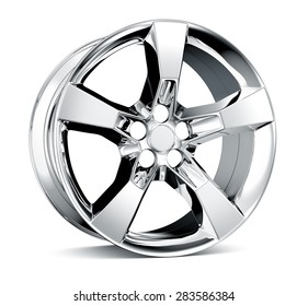 Alloy Wheel Rim isolated on white
