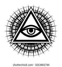 All-Seeing Eye (The Eye of Providence) Illustration