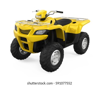 All-Terrain Vehicle Isolated. 3D rendering