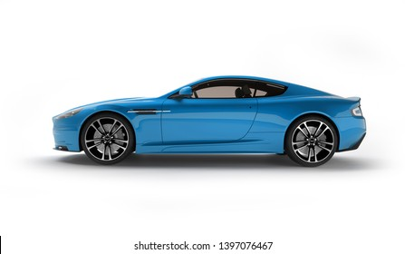 Almaty, Kazakhstan. April 15: British luxury sport car coupe Aston Martin DBS on isolated background. 3D render