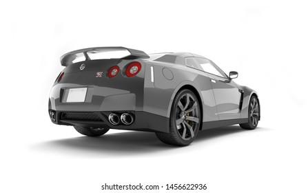 Almaty, Kazakhstan. Juli 15, 2019: Nissan GTR supercar. Isolated on white background. 3D render