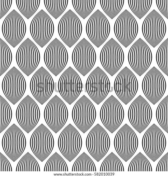 Almond like stripes, lines seamlessly repeatable pattern