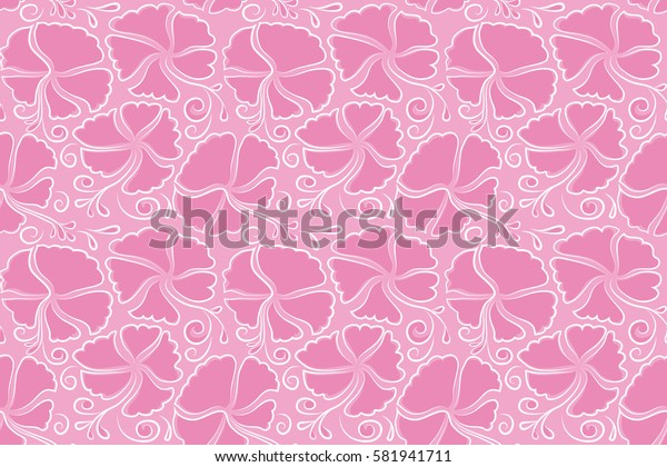 Aloha Hawaii, Luau Party invitation with pink hibiscus flowers. Seamless pattern. Aloha T-Shirt design. Best creative design for poster, flyer, presentation.