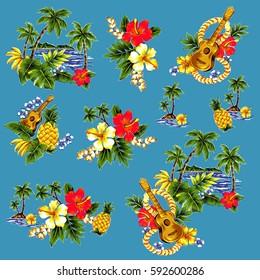 Aloha shirt material