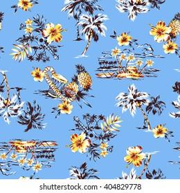 Aloha shirt pattern