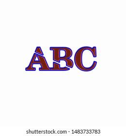 Alphabet ABC, isolated on a White background Logo design