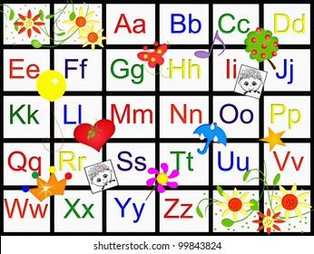 Alphabet Chart Images, Stock Photos & Vectors   Shutterstock