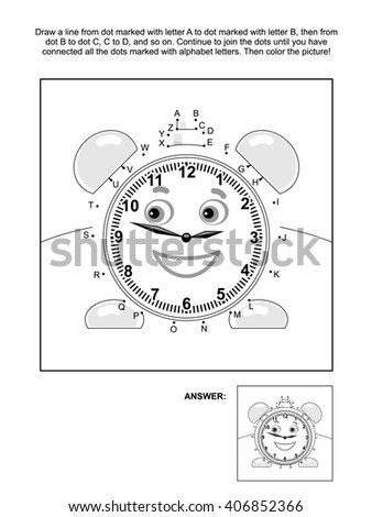 Royalty Free Stock Illustration Of Alphabet Connect Dots Picture
