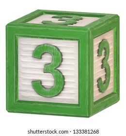 Alphabet of kids toy boxes - number 3 (Work Path Included)