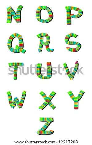 Royalty Free Stock Illustration Of Alphabet Letters Nz Decorative