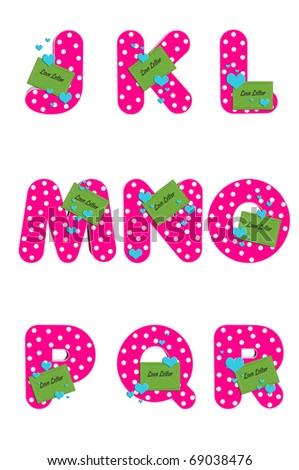 alphabet love letters j r decorated stock illustration 69038476