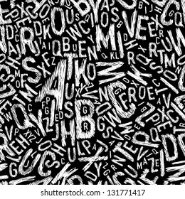 Alphabet seamless pattern. Raster version, vector file available in my portfolio.