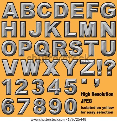 Royalty Free Stock Illustration Of Alphabet Set Chiseled Block