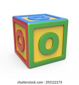 Alphabet toy block - letter O