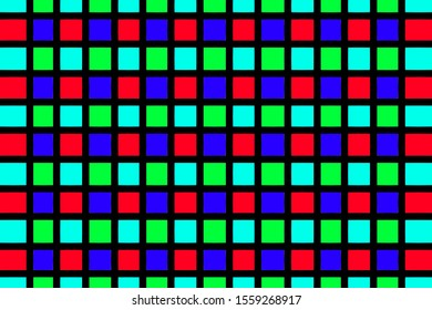 Alternate grid background red blue green