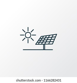 Alternative energy icon line symbol. Premium quality isolated solar panel element in trendy style.