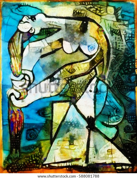 Alternative Reproductions Famous Paintings By Picasso Stock