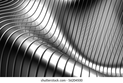 Aluminum abstract silver stripe pattern background 3d illustration