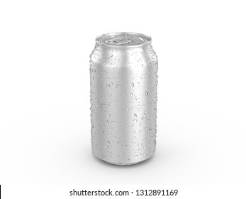 Aluminum cans on a white background. 3d illustration.