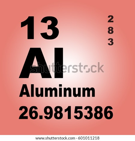 Aluminum Periodic Table Elements Stock Illustration 601011218