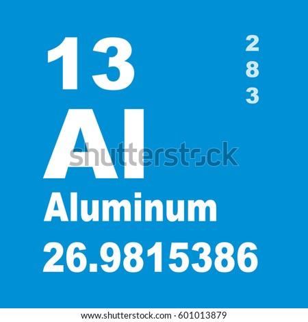 Aluminum Periodic Table Elements Stock Illustration 601013879