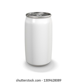 Aluminum white Can on white background. 3d rendering