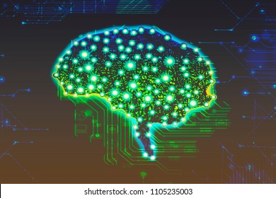 Alzheimer brain disease concept brain and electronic circuit board consciousness uploading bioinformatics of the brain neurons neuronal neural network concept dementia healing circuit-board