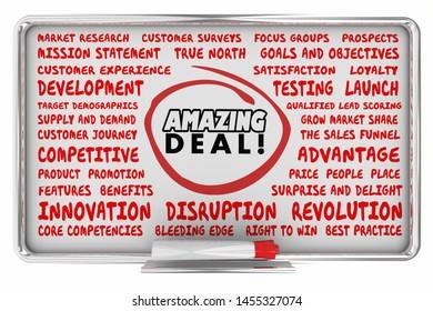 Amazing Deal Big Sale Marketing Strategy Business Plan 3d Illustration