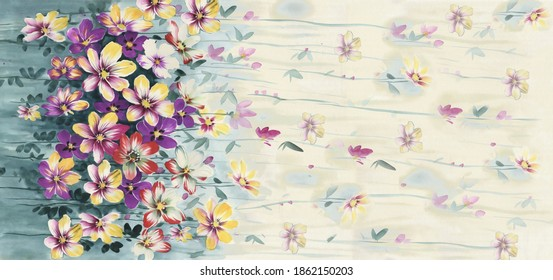 The Amazing fabric Abstract Background, Halftone flowers bouquet, Floral illustration, Leaf and buds, Botanic composition abstract background for greeting card and textile print - Illustration