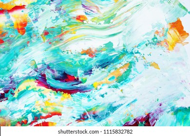 Amazing hand painted colorful abstract backgrounds