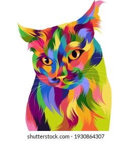 Amazing Illustration Cat Pop Art