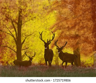An amazing ilustration of deer