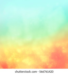 An amazing mix of deep refreshing mint and invigorating warm dawn in the color palette. Incredibly delicate, weightless blurred abstract background. Tone charge optimism, hope and joy.