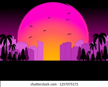 Amazing sunset background with great colors
