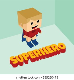 amazing superhero isometric