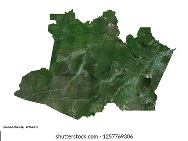 Amazonas, Brazil Map (3D illustration)