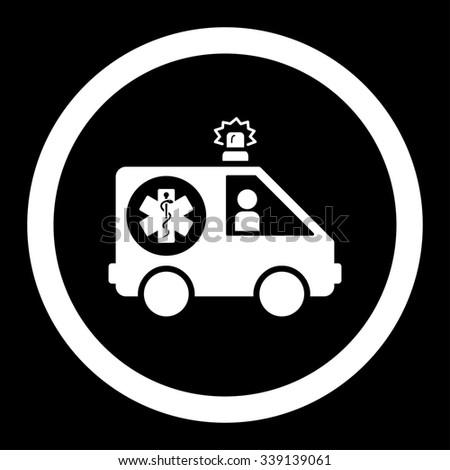 Royalty Free Stock Illustration Of Ambulance Car Glyph Icon Style