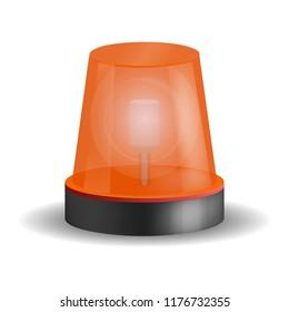 Ambulance siren icon. Realistic illustration of ambulance siren icon for web