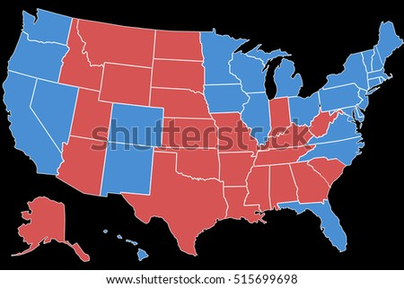 Map Of America Voting.Royalty Free Stock Illustration Of America Election Vote America